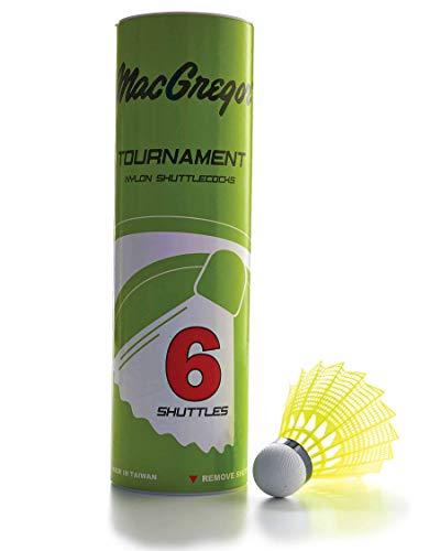 MacGregor Tournament Shuttlecocks 6Tube