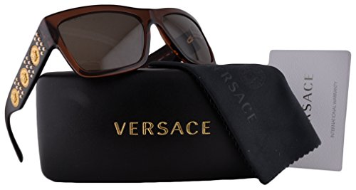 a07c0bfe18541 Versace VE4289 Sunglasses Transparent Brown w Brown Lens 5130 73 VE 4289