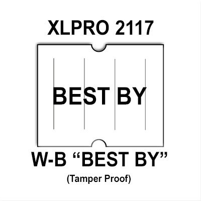 180,000 XLPro 2117 compatible ''BEST BY'' White General Purpose Labels to fit the X-Mark TXM 21-86 and XLPRO-II Price Guns. Full Case [bulk rate pricing]. by Infinity Labels