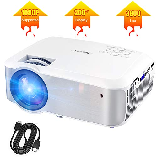TOPVISION Native 720P 3800 Brightness Video Projector
