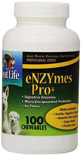Great Life Dog Food 100 Count Enzymes Pro Chewable Pet Digestive Remedy