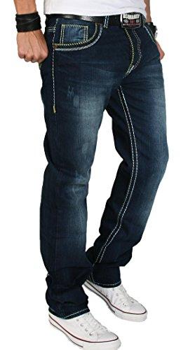 Uomo Blu Jeans Scuro Creek Straight Rock nxUqFOw