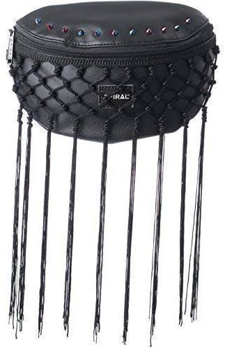 Spiral Gotham Lace Tassel Bum Bag in Black