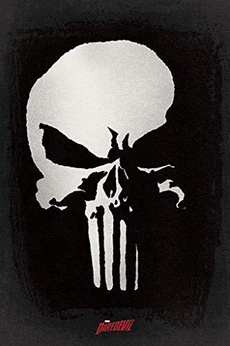 Pyramid International Daredevil TV Series Punisher Skull Marvel Comics Poster 36x24 inch