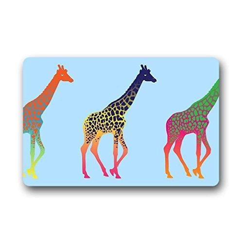 Best Music Posters Giraffe Outdoor/Indoor Rubber Backed Non-