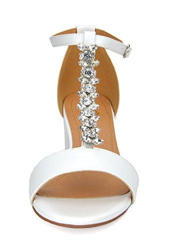 08 white Women's Pairs Sandal Mona Heel Pu Dream OPFxzqw