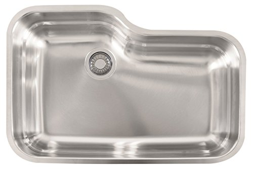 Franke USA ORX110 Franke Gauge Undermount Single Bowl Stainless Steel Kitchen Sink, 30.5-inch x 20-inch x 9-inch deep, - Franke Single Bowl Undermount Sink