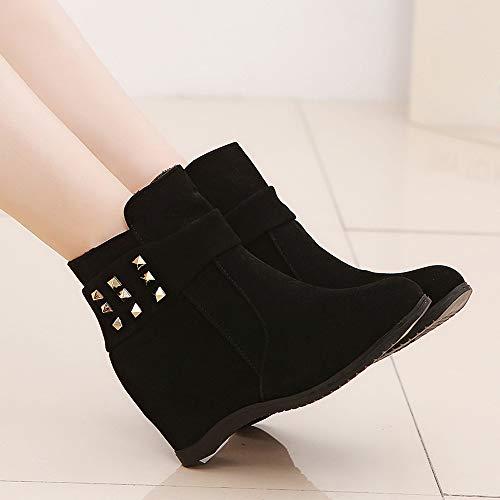 Most Gifted!!! Teresamoon Platform Wedge Heel Boots Women Shoes Increased Platform Fashion Ccasual Boots by Teresamoon-Shoes (Image #3)