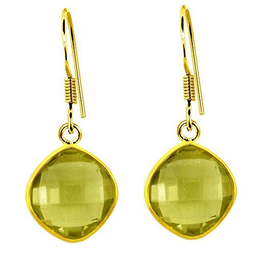 - 3.12 Ctw Lemon Quartz Earrings By Orchid Jewelry: Dangle and Hypoallergenic Earrings For Sensitive Ears, Neckel Free Wedding and Dangling Earrings For Women, Bridal Earrings For Brides