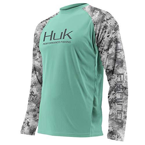 Hood Header - Huk Men's Double Header Vented Long Sleeve Shirt, Julep, XX-Large