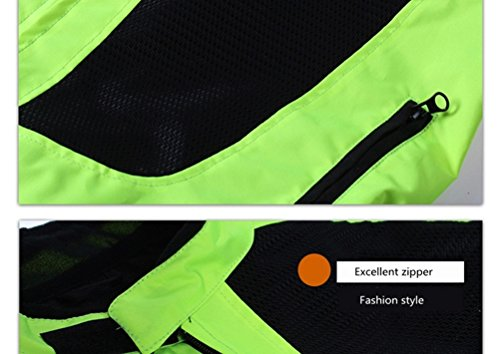 Men's Summer Motorcycle Jacket Racing Protective Gear Safety Clothing (XL(Chest:44.5'')) by Cuzaekii (Image #3)
