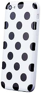 Apple iPhone 5C | iCues lunares blancos TPU | Señoras de las mujeres de las muchachas de gel de silicona adorno del modelo de piel protectora de protección [protector de pantalla, incluyendo] Cubierta Cubierta Funda Carcasa Bolsa Cover Case