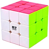 BestCube Qiyi 3x3 Warrior 3x3x3 Speed Cube Stickerless Puzzle Cube,56mm