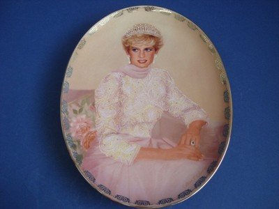 (1998 Bradford Exchange Porcelain Plate -- PRINCESS DIANA -- PLATE #5 PRINCESS TO THE WORLD -- DIANA: QUEEN OF OUR HEARTS COLLECTION by Bradford Exchange)