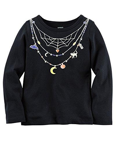 Carters Girl Long-Sleeve Halloween Tee (18 Months, Black) (Girls Halloween Shirts)