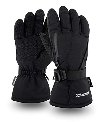 Rugged Waterproof Winter Gloves | Touchscreen Compatible | Cordura Shell, Thinsulate Insulation | Ice Fishing, Skiing, Sledding, Snowboard | for Women or Men (XXL)