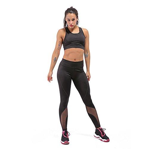Ezzy Money Women Yoga Pants – Full Length Activewear/Waist Pocket/Moisture Wicking/Mesh