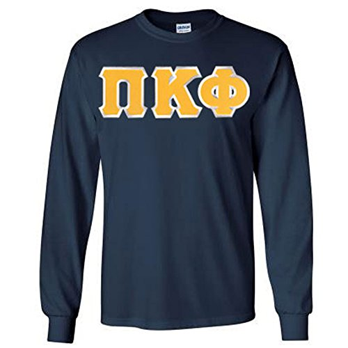 Pi Kappa Phi Lettered Long Sleeve Large Navy Blue