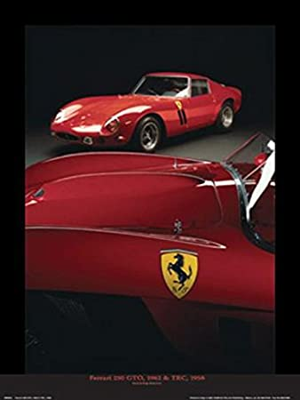 sports com art exotic car poster print posters dp red ferrari wall amazon decor enzo