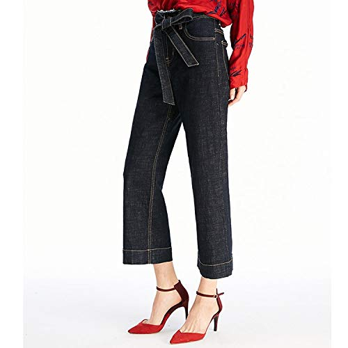 Punkte Freizeitschnrsenkel Weite Jeans Neue Beinhosen Femme Neun Punkte Jeans Jeans lockere MVGUIHZPO S neun qZxptc