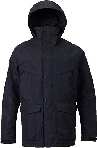 - Burton Men's Shell Breach Jacket, True Black/True Black Wax, Large