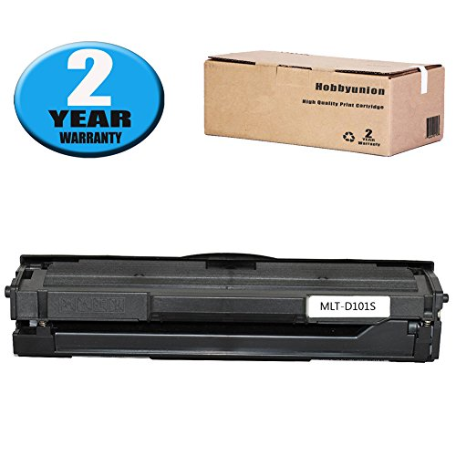Hobbyunion MLT-D101S Toner Cartridge Black Replacement for Samsung SCX-3400 SCX-3401 SCX-3401FH SCX-3406W SCX-3406HW ML-2160 ML-2161 ML-2162 ML-2165 ML-2166, 2 Pack ()