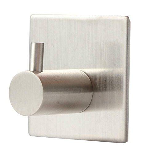 Dalino Square Single Hoo Stainless Steel Nail Free Coat Hook(Silver) by Dalino