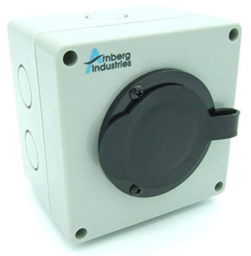 30 Amp Generator Inlet Box, AI-PB30 Power Cord Twist Lock Receptacle for Transfer Switches. Indoor/Outdoor Rated + 6 Knockouts and Deeper Wiring Depth for Easier Install. cUL Listed Flanged L14-30