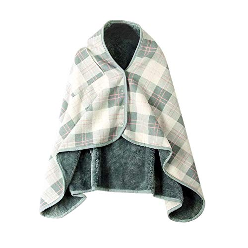 - Yunhigh Plaid Wearable Blanket Throw Plush Thick Flannel Blanket Poncho Wrap Shawls Checked Winter Warm Thermal Blanket with Snaps for Adults Woman Outdoor Picnic Camping