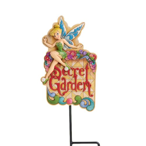 Bell Welcome Plaque (Disney Traditions by Jim Shore Tinker Bell Garden Welcome Plaque 9-Inch)