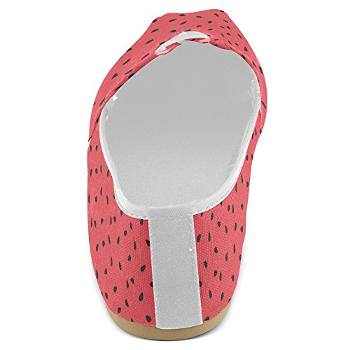 Rentprint Dames Loafers Classic Casual Canvas Slip Op Mode Schoenen Sneakers Mary Jane Flats Watermeloen