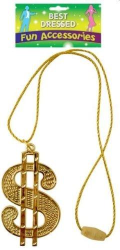 809d36d6ad52 Colgante Collar rapero   gangster símbolo Dólar. Accesorio de disfraz.  Carnaval Halloween  Amazon.es  Juguetes y juegos