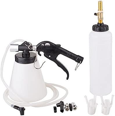 Air Brake Bleeder Kit Pneumatic Clutch Vacuum Hydraulic Fluid Fill Bottle