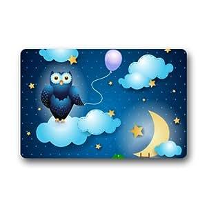 Owl Machine Washable Top Fabric & Non-Slip Rubber Backing Doormats Door Mat 23.6 x 15.7 Inch