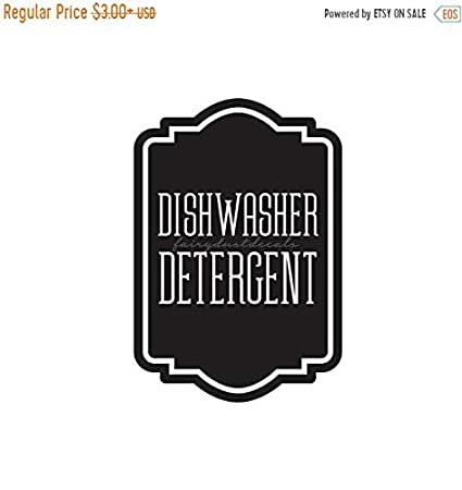 Amazon Com Pene Labor Day Sale Dishwasher Detergent Label For Glass