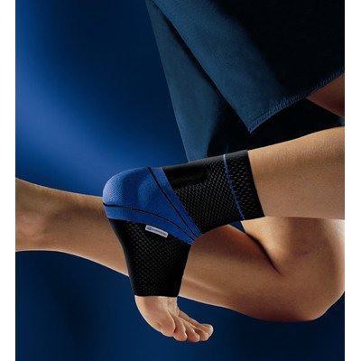 MalleoTrain Ankle Support Size: Left 4, Color: Black by Bauerfeind