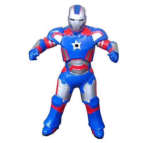 Iron Man 3 Iron Patriot Costume Fiber Glass Head Adult Mascot Halloween Cosplay Blue -