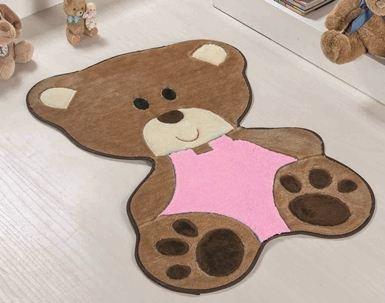 Tapete Bebê Urso - Rosa