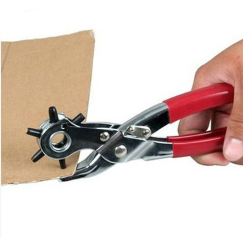 8 Inch New 6 Sized Heavy Duty Leather Hole Punch Hand Pliers