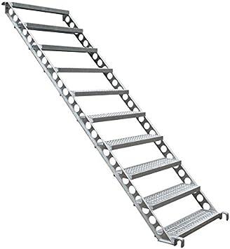Diseño Escaleras, construcción Escaleras, Exterior Escaleras F. 2 m de altura, 45 grados 80 cm de ancho: Amazon.es: Bricolaje y herramientas