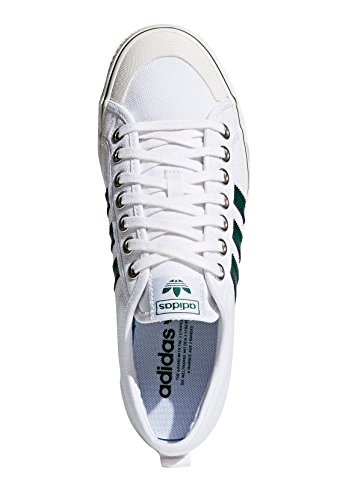 adidas Originals Sneaker Nizza CQ2327 Weiß Grün, Schuhgröße:42 2/3