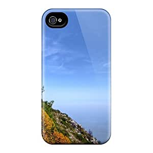 Iphone 4/4s Seascape And Land Print High Quality Tpu Gel Frame Case Cover