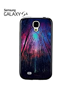 Galaxy Trees Nature Sky Mobile Cell Phone Case Samsung Galaxy S4 Black