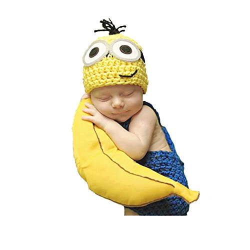 Minion Outfit (ORIGINAL DESIRE Baby Photography Prop Outfits Christmas Gift Minion Costume)