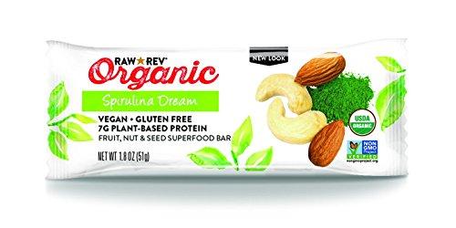 Raw Revolution Organic Live Food Bar, Spirulina Dream, 1.8 Ounce (Pack of 12)
