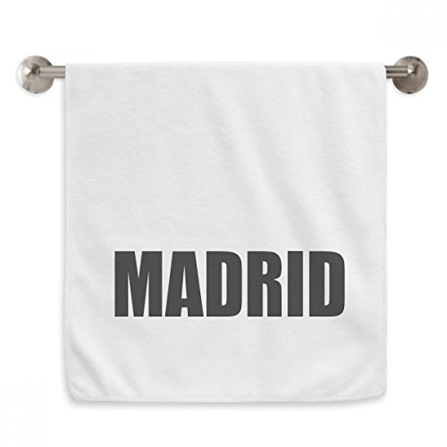 DIYthinker Madrid Spain City Name Circlet White Towels Soft Towel Washcloth 13x29 Inch by DIYthinker