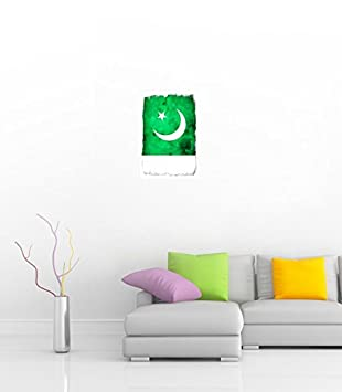 Pakistan Flag 17 Wide Poster Amazon De Kuche Haushalt