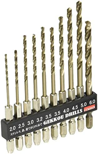 DIY・工具・ガーデン|||電動工具・エア工具|||電動工具パーツ・アクセサリ|||ドリルアクセサリ|||穴あけ|||金工用ドリルビット φ2.5 φ3.0 φ3.2 φ4.0 φ4.5 φ5.0 公式ストア φ6.0各1本 φ3.5×2本 6GK10P 金属 金工