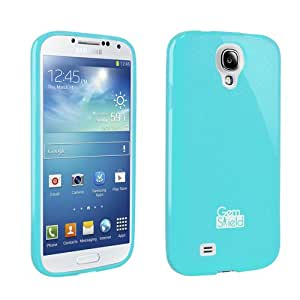 Light Blue Gem Shield Glitter Protective Cover Case for Samsung Galaxy S4