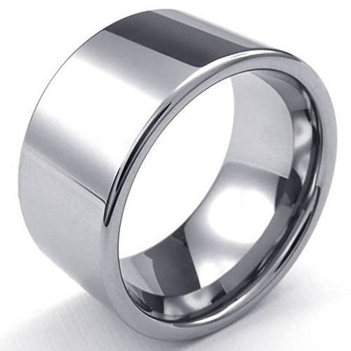 [Bishilin Tungsten Fashion Men's Rings Classical Ring Silver Width 12mm Size 12] (Red Skull Costume Uk)